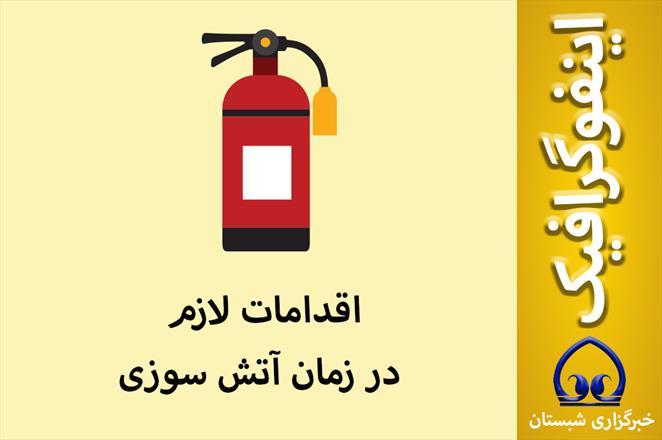 اینفوگرافیک / اقدامات لازم در زمان آتش سوزی
