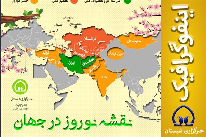 اینفوگرافیک / نقشه نوروز در جهان