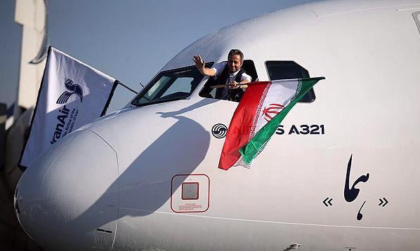 بازتاب بین المللی فرود نخستین ایرباس در ایران