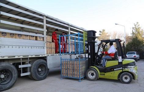 ارسال مواد غذایی به مناطق زلزلهزده غرب کشور