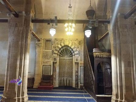 نصب چراغ و لوسترهای مسجد «جامع الازهر» + تصاویر