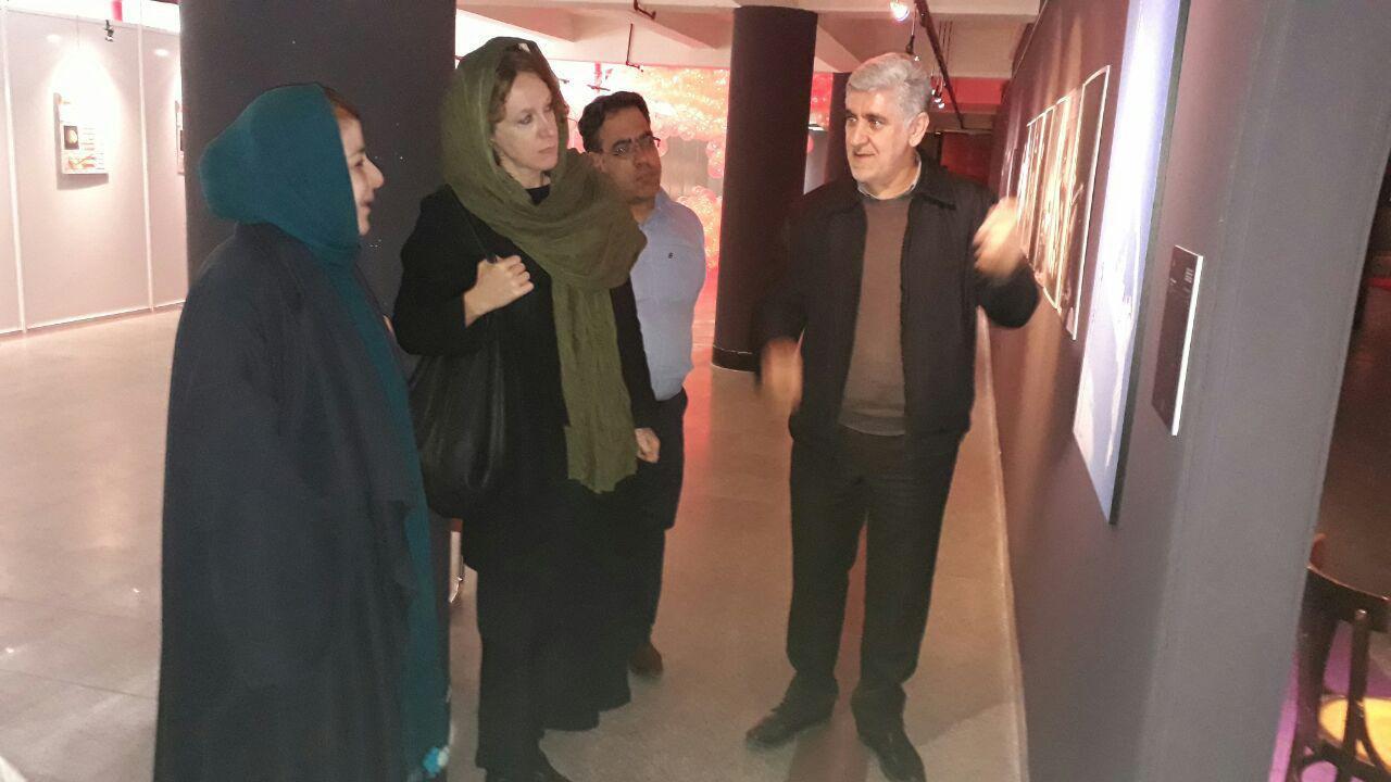 بازدید سفیر فرانسه و رایزن فرهنگی سفارت بلژیک از نمایشگاه جشنواره هنرهای تجسمی فجر