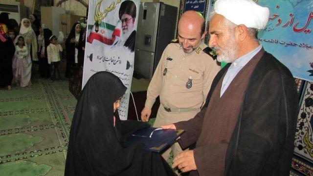 برگزاری جشن روز دختر در مسجد 14 معصوم منطقه یکم نداجا