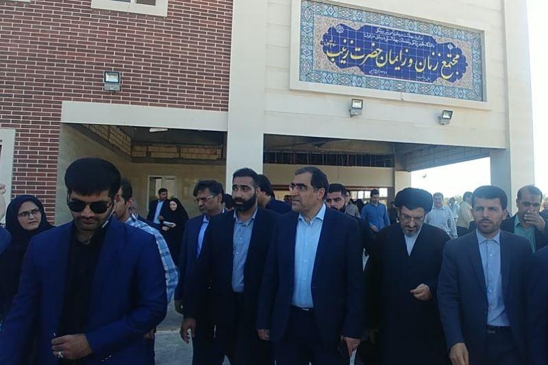 بازدید وزیر بهداشت از مجتمع تخصصی در حال احداث حضرت زینب (س) دزفول