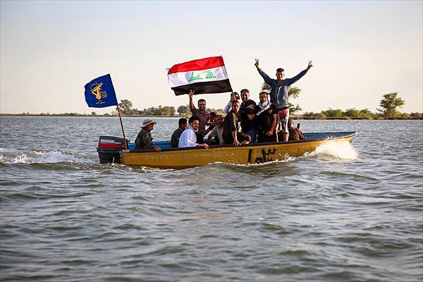 کمک رسانی کاروان مقاومت اسلامی نجبا به سیل زندگان اهواز