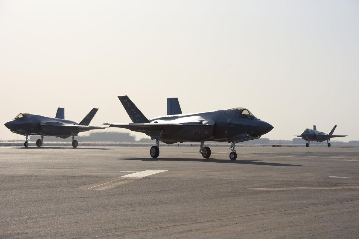 ماموریت جنگنده های «F-35A» در خاورمیانه + عکس