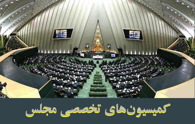 دستور کار کمیسیونهای تخصصی مجلس اعلام شد