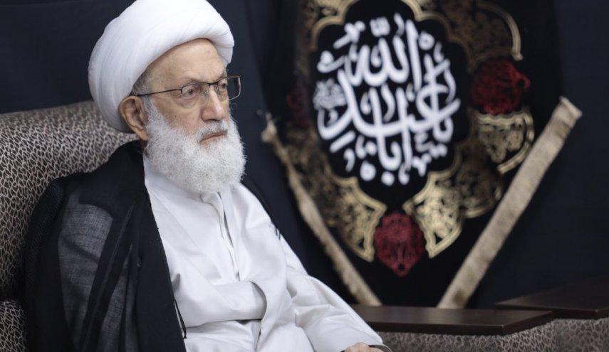 پیام رهبر شیعیان بحرین برای محافظت زندانیان سیاسی