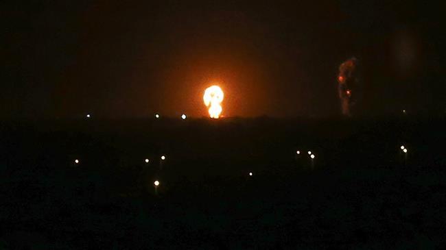 بمباران نوار غزه توسط جنگندههای صهیونیستی