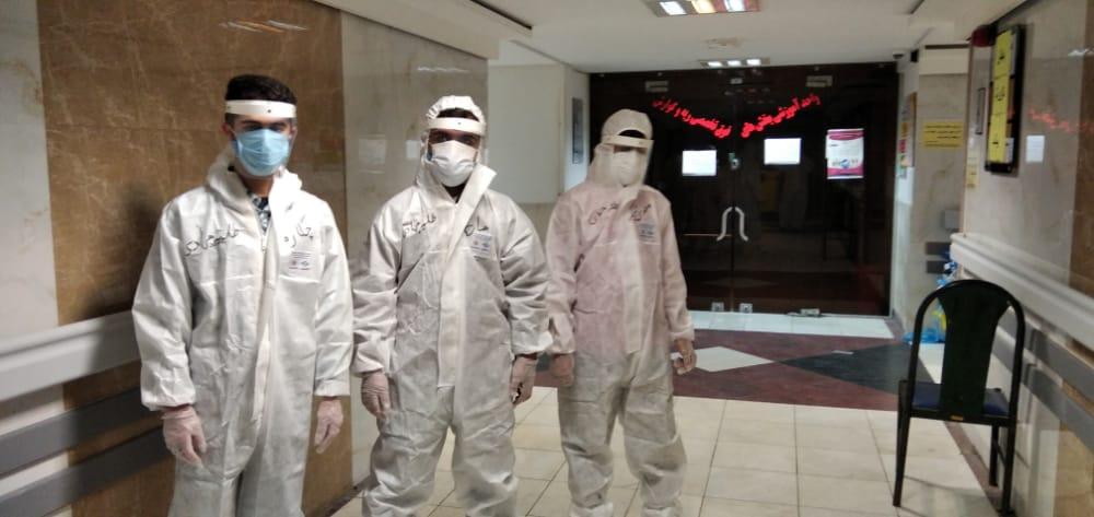 اولین گروه جهادی از طلاب شهرستان رامهرمز به بیمارستان های اهواز اعزام شدند