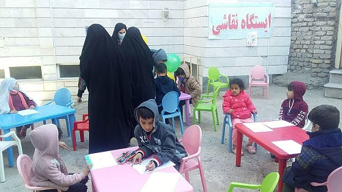 برگزاری جشن میلاد گل نرگس در مسجد امام حسین (ع) کوی فرهنگ زنجان+تصاویر