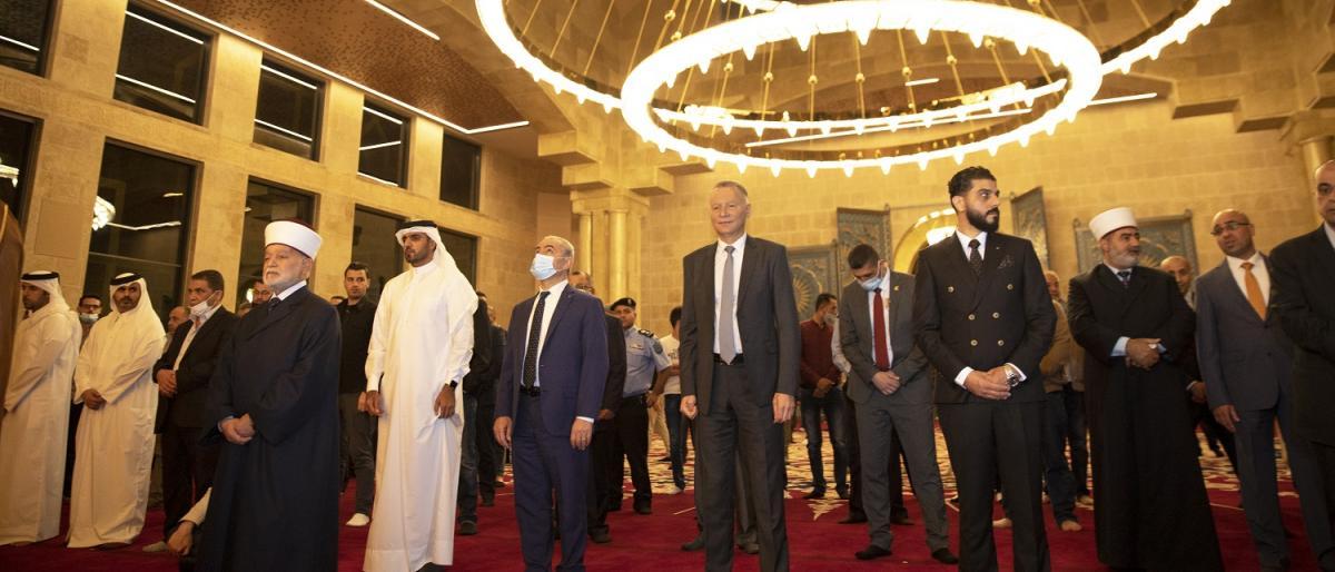 افتتاح بزرگ ترین مسجد در کرانه باختری