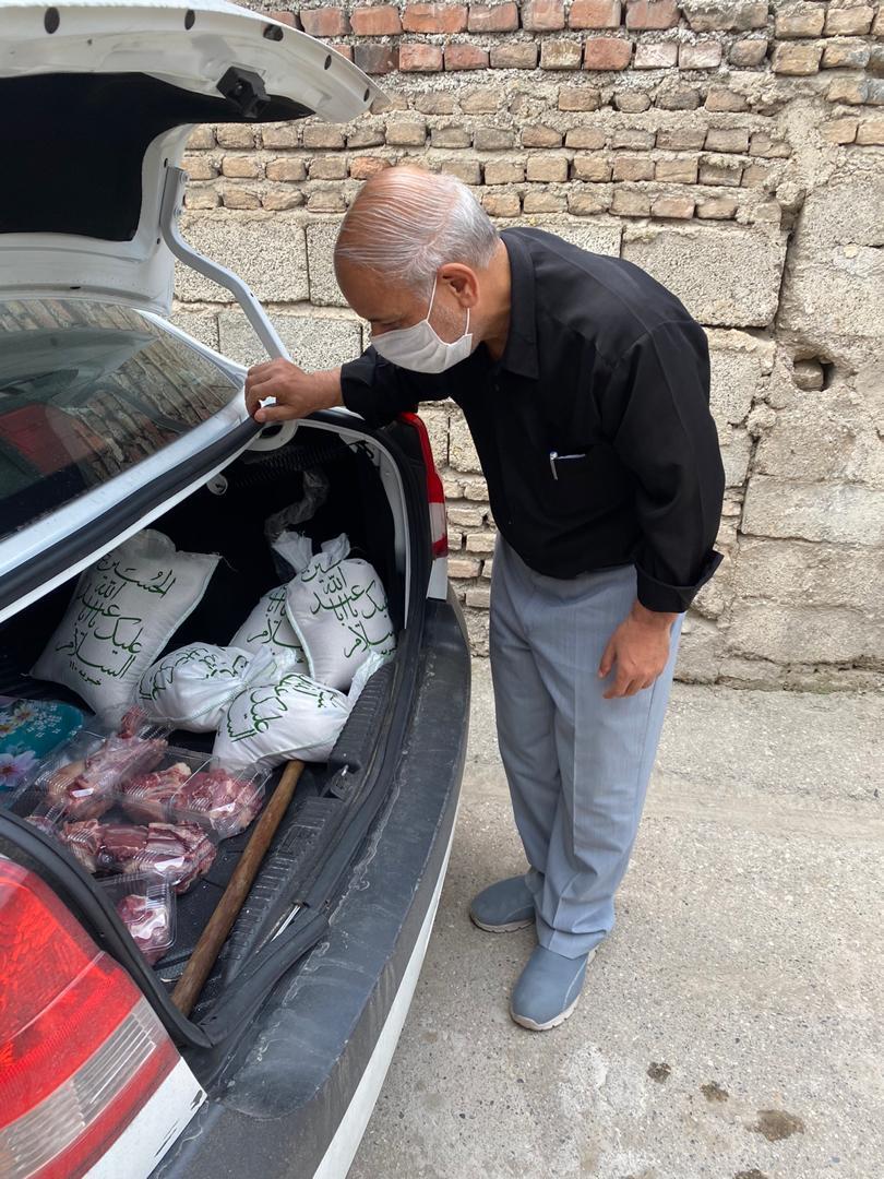 توزیع 50بسته معیشتی به همت بچههای مسجد امیرالمؤمنین(ع) ساری