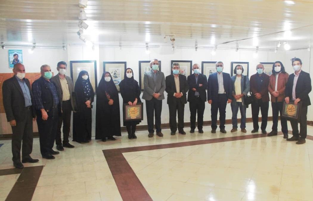 IMG 20210512 WA0023(1) - نمایشگاه«تجسم نور» در گالری سوره حوزه هنری مازندران گشایش یافت