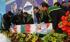 وداع زائران جمکران با شهید مدافع حرم حاج مجید عسکری
