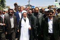 حضور آیت الله مکارم شیرازی در راهپیمایی روز قدس