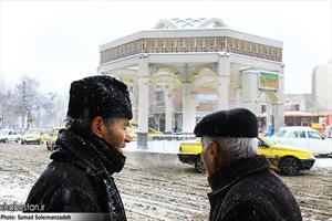 برف زمستانی اردبیل !