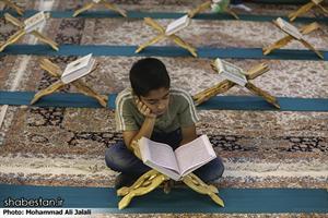 مراسم حزبخوانی اعضای نوجوان کانونهای مساجد استان قم در حرم حضرت معصومه (س)