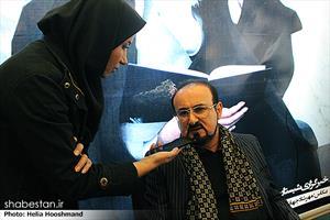 عبدالحسین مختاباد در پنجمین روز نمایشگاه مطبوعات و خبرگزاری ها - غرفه ی شبستان