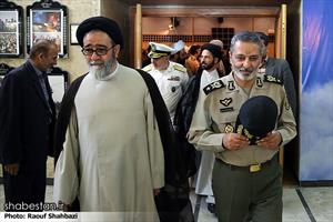حجت الاسلام و المسلمین آل هاشم در مراسم تقدیر از معلمین نمونه ارتش جمهوری اسلامی ایران