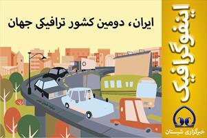 اینفوگرافیک / ایران، دومین کشور ترافیکی جهان