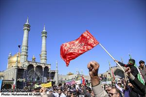 راهپیمایی مردم قم همزمان با يوم الله ۱۳ آبان