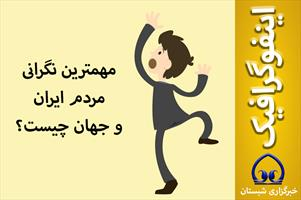 اینفوگرافیک / مهمترین نگرانی مردم ایران و جهان چیست؟