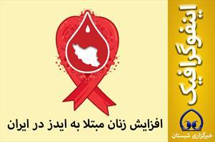 اینفوگرافیک / افزایش  زنان مبتلا به ایدز در ایران