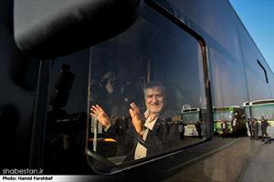 رونمایی از تاکسی ها و اتوبوس های جدید ناوگان شهری مشهد