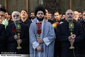 آئین تعویض پرچم گنبد حرم حضرت عبدالعظیم حسنی (ع)