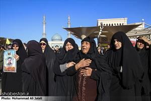 تشییع پیکر چهار شهید مدافع حرم در قم