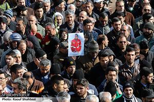 تشییع پیکر شهدای آتشنشان