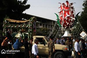 تشییع پیکر شهیدان مدافع حرم از تبار فاطمیون در اراک