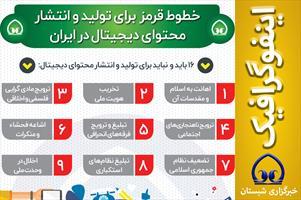 #اینفوگرافیک / خطوط قرمز  برای تولید و انتشار محتوای دیجیتال در ایران