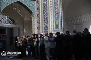 اقامه نماز باران در حرم مطهر رضوی