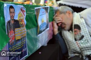 تشییع پیکر شهید مرتضی بصیری پور در بیرجند