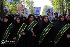 تشییع شهید مدافع حرم در گرگان
