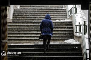 برف بهاری در کرج