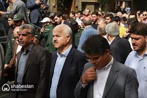مراسم تشییع امام جمعه فقید شیراز