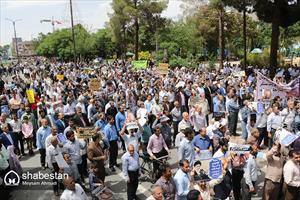 تظاهرات  ضد استکباری مردم کرمان و محکومیت دولت مستکبر آمریکا