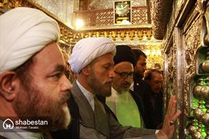 زیارت آرامگاه شهید دستغیب توسط حجت الاسلام دژکام، امام جمعه جدید شیراز
