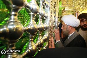 زیارت حرم مطهر حضرت شاهچراغ (ع) توسط حجت الاسلام دژکام، امام جمعه جدید شیراز
