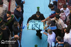آیین شست و شوی گنبد و تعویض پرچم مسجد مقدس جمکران