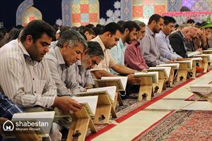 جزء خوانی قرآن کریم در حسینیه ثارالله کرمان