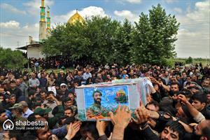 تشیع پیکر هجدهمین شهید مدافع حرم استان گلستان