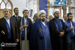 دیدار اعضای شورای هماهنگی دهه کرامت با آیت الله ری شهری