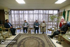 دیدار حجت الاسلام ارزانی با رئیس سازمان زیباسازی شهرداری