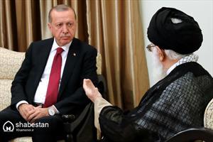 دیدار رؤسای جمهور ترکیه و روسیه با رهبر انقلاب