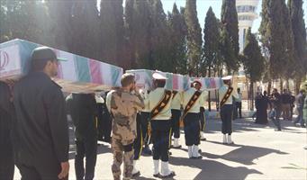 استقبال از پیکرهای شهدا در کرمان