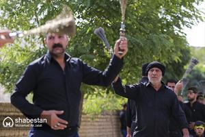 عزاداری عاشورا حسینی در روستا شهید پرور فردو